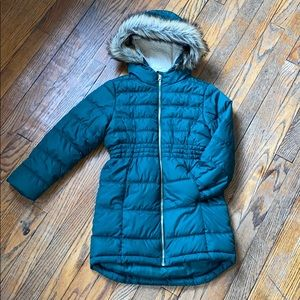 Old Navy Frost Free Puffer Jacket Green Girls S6-7